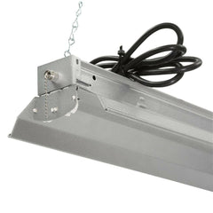 All Season 4 Ft. 2-Light Grey T8 Strip Fluorescent Shop Garage Lighting Fixture