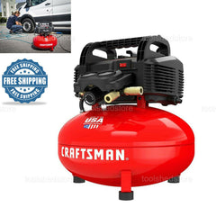 CRAFTSMAN 6 Gallon Single Stage Portable Electric Pancake Air Compressor Compact