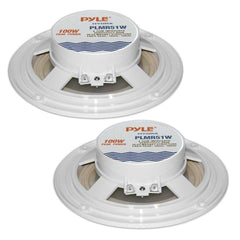 2 Waterproof Marine Speakers, For The Pool, Boats, Full Range Stereo,100W (Pair)