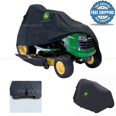 John Deer Riding Mower Cover Deluxe Garden Tractor Protection Black Polyester