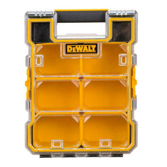Dewalt Small Parts Storage Organizer 6-Compartments Heavy-duty Body Clear Lid