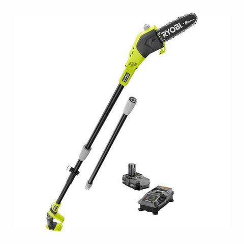 NEW Ryobi Limb Pruner Pole Saw Battery Powered Long Tree Trimmer Cordless Bundle