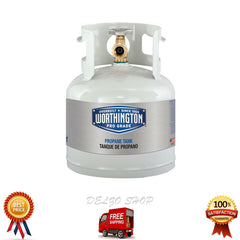 4.25 lb Empty Liquid Propane Tank BBQ Grill RV Refillable Gas Cylinder, 1 Gallon