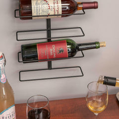 Wall Mount Wine Bottle Storage Rack Holds Up To 9 Bottles Holder Organizer Home