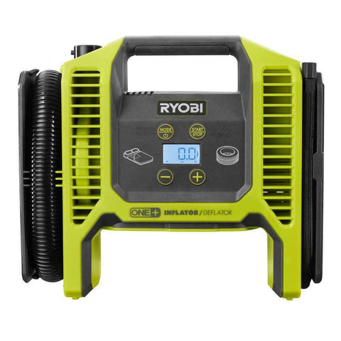 Ryobi 18V Cordless Portable Air Compressor Inflator/Deflator Battery and Charger