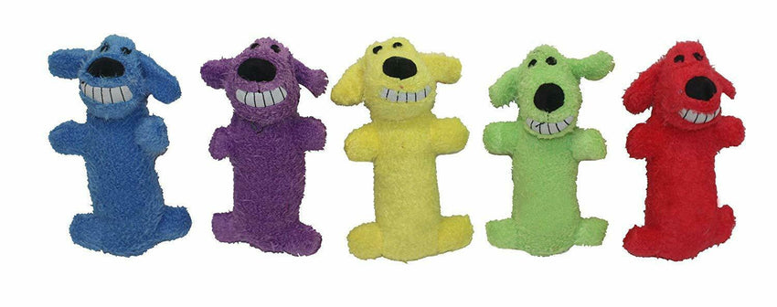 ONE Dog Plush Toy Squeaks Fun Entertainment Small Dogs 6 in. (Colors May Vary)