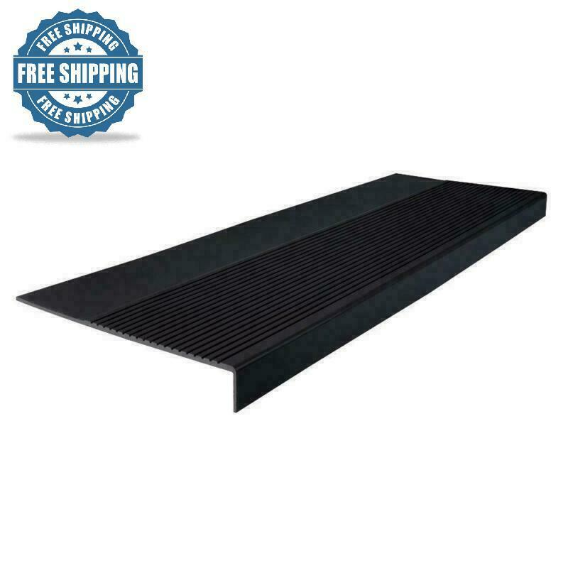 Square Nose Stair Tread Cover 12 x 36 in. Flooring Projects Durable Rubber NEW