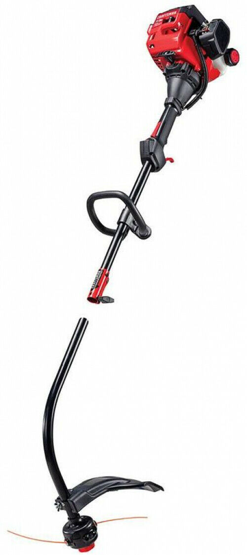 17-in Curved Shaft Gas String Trimmer w/. Attachment and Edger Lightweight Lawn