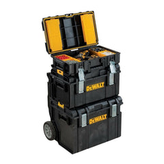 Tough System 22 in. Toolbox Stackable Mobile Storage Organizer Heavy Duty Foam