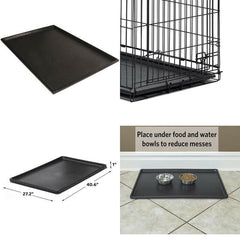 Pet Dog Crate Replacement Pan Plastic Liner Repl Tray 42 Inch Floor Cage Kennel