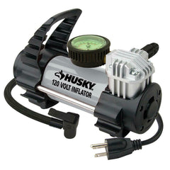 NEW Husky Car AIR COMPRESSOR 12/120 Volt Outlet Portable Auto Pump Tire INFLATOR