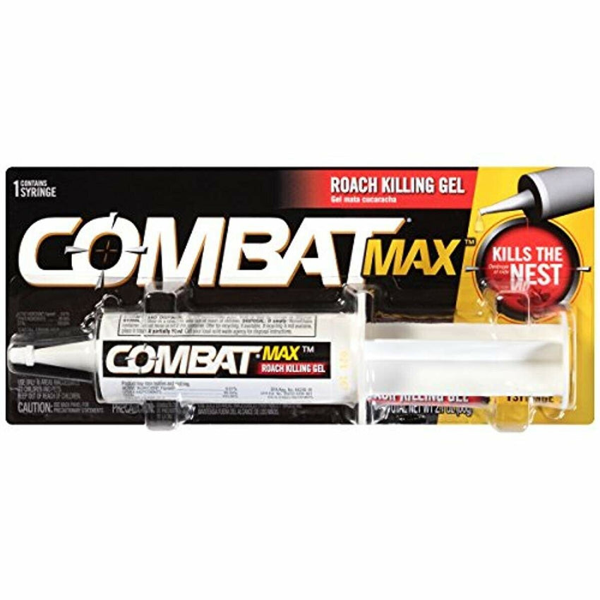 Combat Source Kill Max Roach Killing Gel 60 Grams 2.1 OZ Boric Acid Pest Control