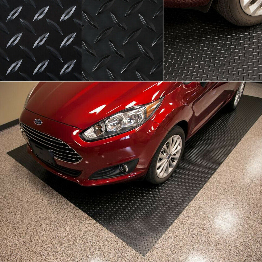 NEW Garage Diamond Heavy Duty Mat Trailer Floor Covering RV Flooring 7.5 x 14 ft