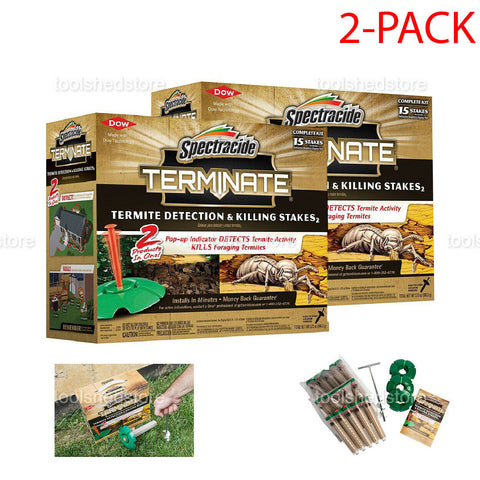 2-Pack Spectracide Terminate Termite Detection and Killing Stakes Pest Control