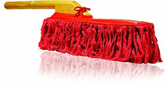 Original California Car Duster with Wooden Handle Red Fibers Removes Dust Fast