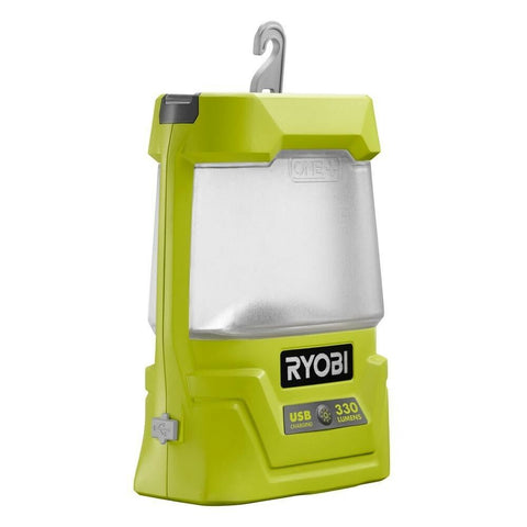 Ryobi Cordless Workshop Lantern Lamp 330 Lumen LED Light 18V One+ LiIon Baretool