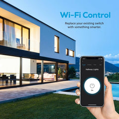 Geeni Tap Alexa Google Smart Wi-Fi Light Switch Control Indoor Wall Hardwired