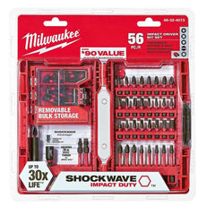 Milwaukee Shockwave 56 PCS Impact Driver Bit Set Drill Bits Insert Magnetic NEW