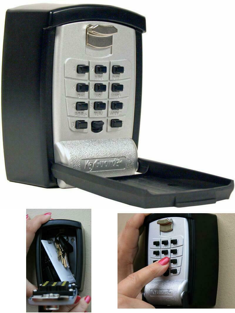 Wall Mount Lock Box Punch Button Key Storage Heavy Duty Door Opener Keys Box NEW