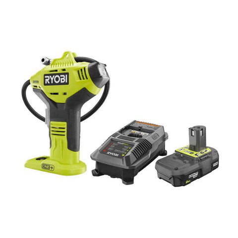 CORDLESS AIR COMPRESSOR COMBO KIT 18 Volt Portable Tire Pump Inflation RYOBI NEW