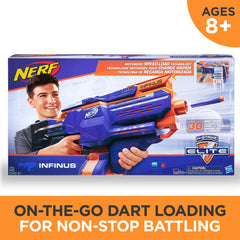 Nerf N-Strike Elite Infinus Rapid Fire Speed Load Drum Mag Machine Gun Blaster