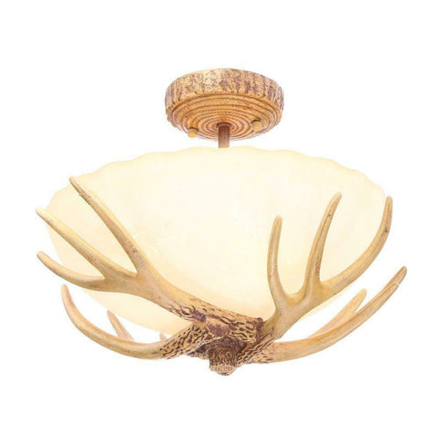 NEW Elegant Antler Semi Flush Mount Light Fixture Ceiling Lamp Home Cabin Decor