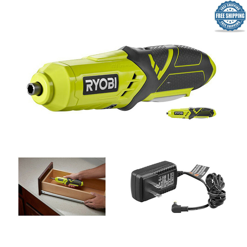 Cordless Lithium Screwdriver 4V Electric Power Tool Compact Design w. Charger