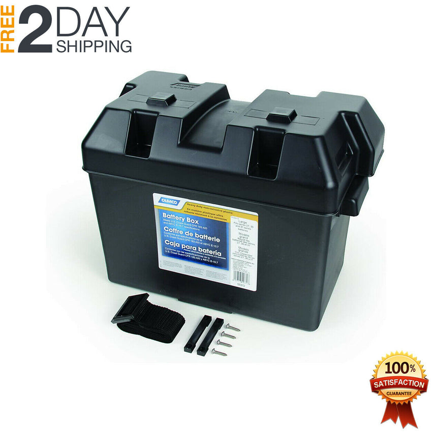 Large Heavy Duty Battery Box for 27 30 31 Batteries Lightweight Safe Storage