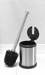 Bath Bliss Toilet Brush Holder with Self Closing Lid, Durable Design Cleansing