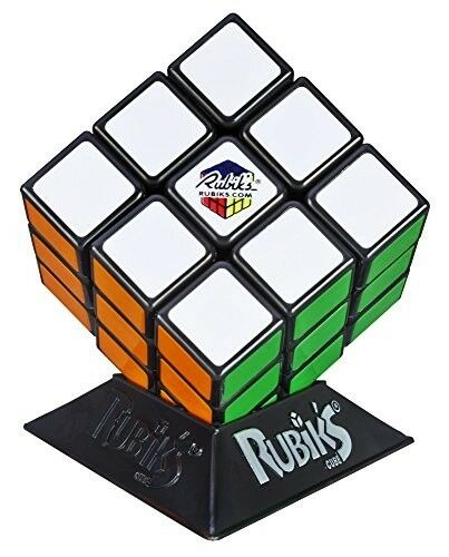 Original Hasbro Rubik Cube Game Rubix Box Kids Toy Games Brain Teaser with Stand