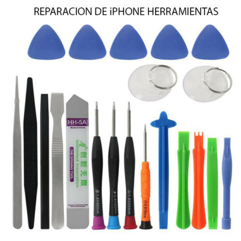 21 en 1 iPhone Telefono Celular Kit de Reparacion Apertura iPhone X 8 7 6S 6 Set