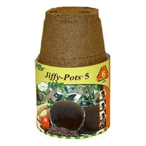 PLANTATION PRODUCTS Jiffy Potts 508 Round Peat Pot, 5-Inch, 6-Pack Peat Moss