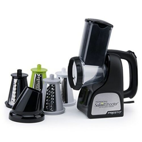 Professional Salad Shooter Electric Slicer/Shredder Black, Veggies Fruits Cheese