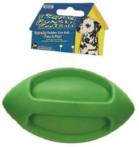 Durable Football Chew Dog Toy Squeaky Play Fun Tug of War Pass and Play NEW