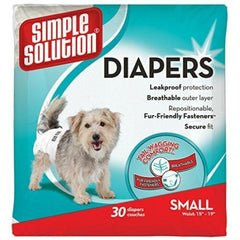Simple Solution Disposable Diapers, Small, 30-Count Free Shipping Leak-Proof NEW