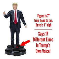 President Donald Trump Talking Figure, 17 Different Audio Lines with Own Voice