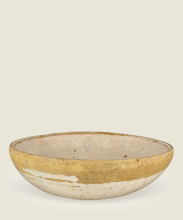 antique beige mustard bowl