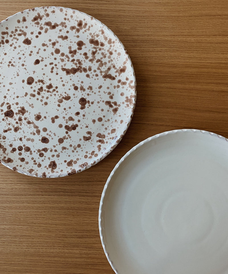 brown splatter xl dish