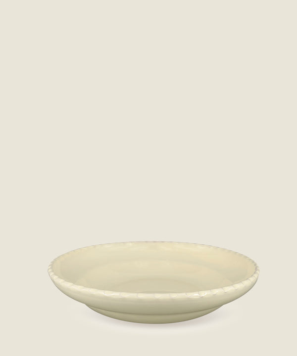 cream edge ceramics bowl large