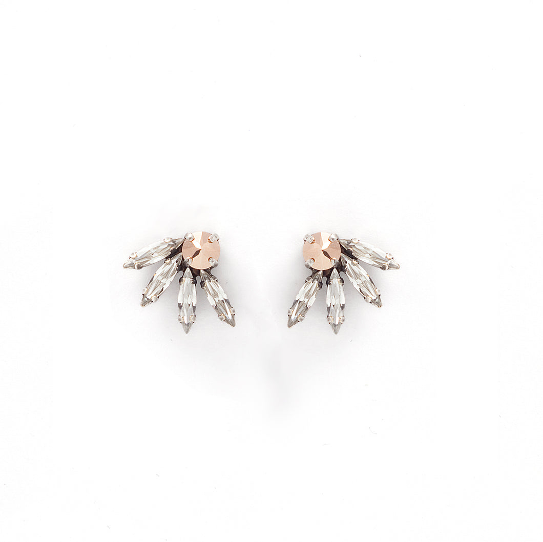 Swarovski crystal and rose gold earrings