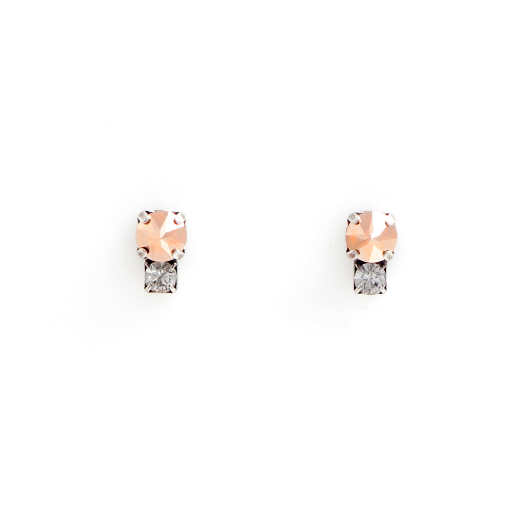 Swarovski crystal rose gold studs