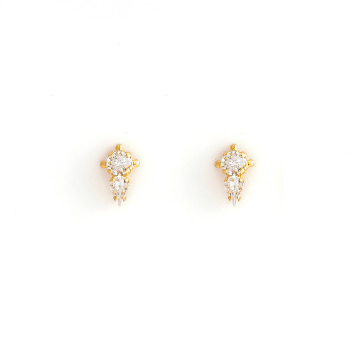 CLAIRE stud earrings gold