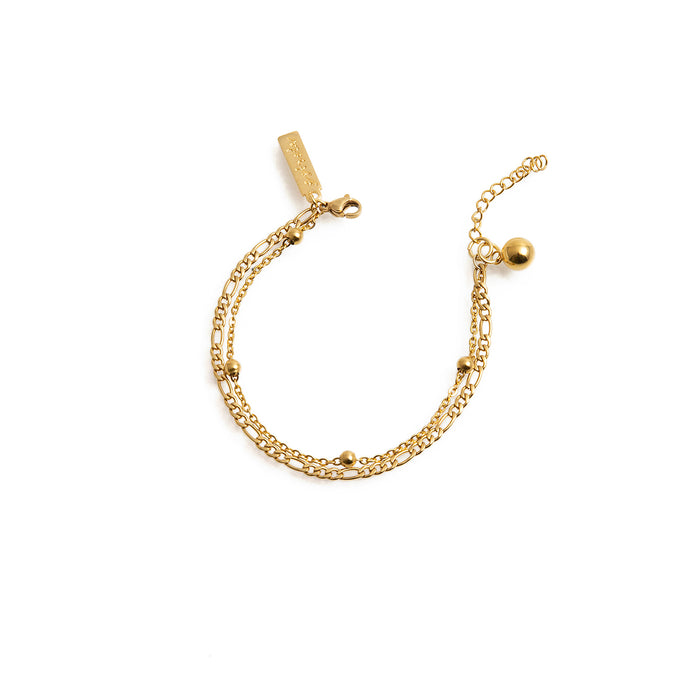 Delicate gold-plated chain bracelet