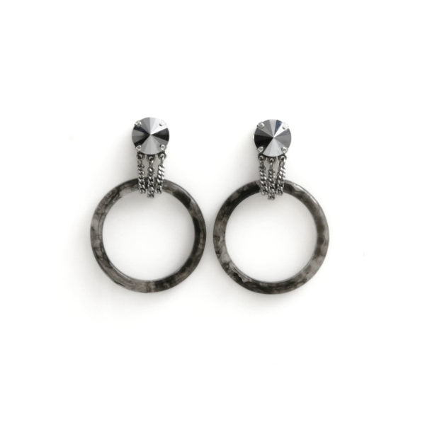 FARRAH Earrings Black by ESTRELA