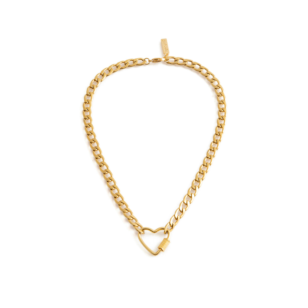 Gold heart shaped necklace