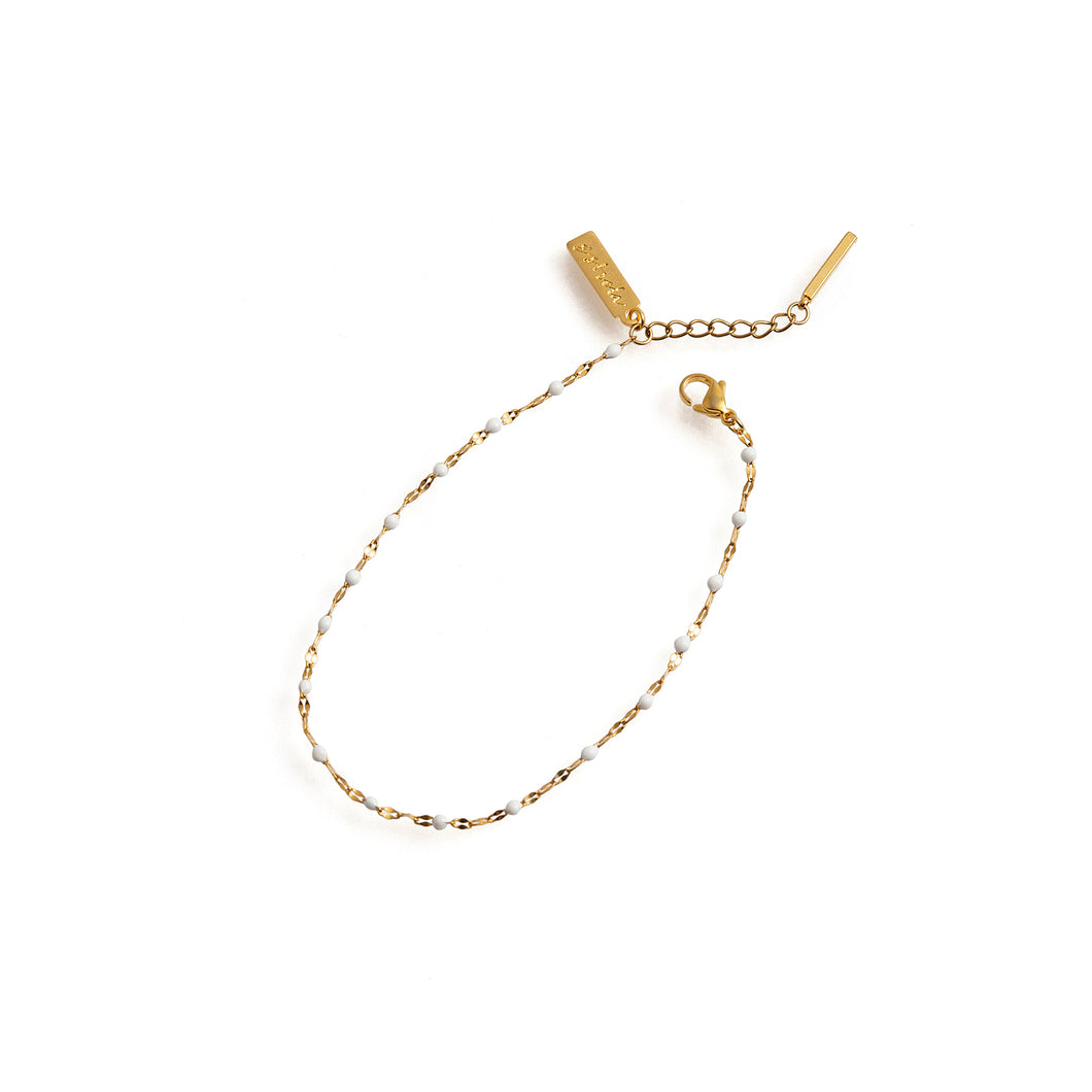 HERA Anklet Gold & White