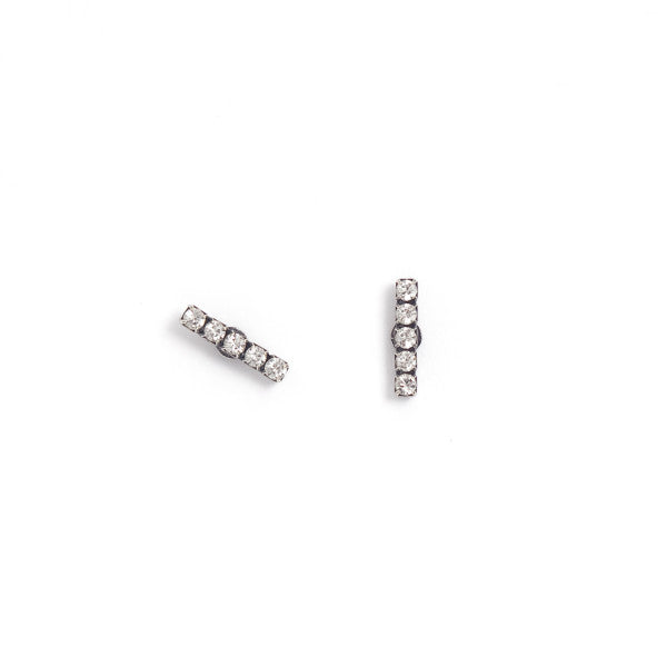 LAYLA Earrings Silver Clear