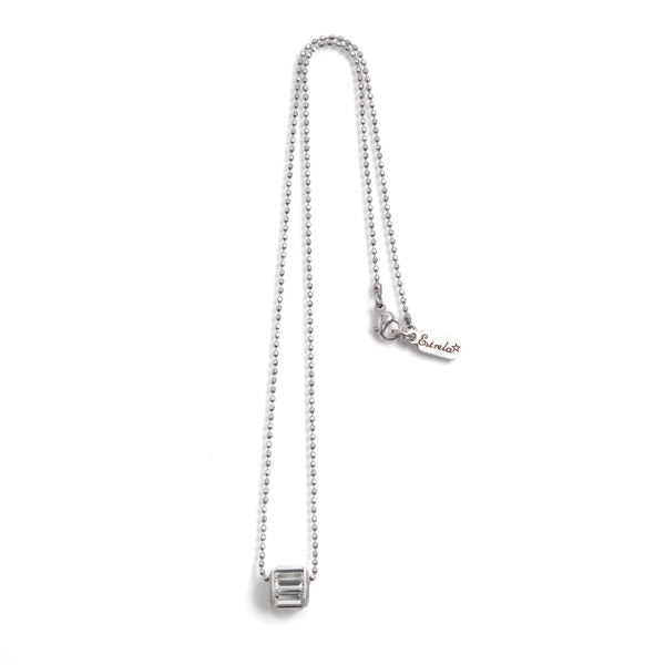 Ball chain and Swarovski crystal delicate necklace