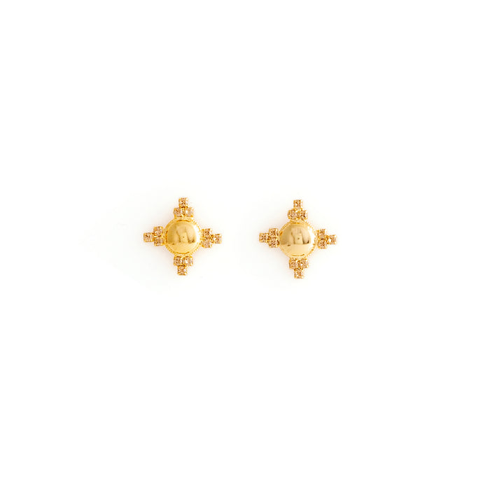 Gold Star Swarovski Crystal Stud Earrings
