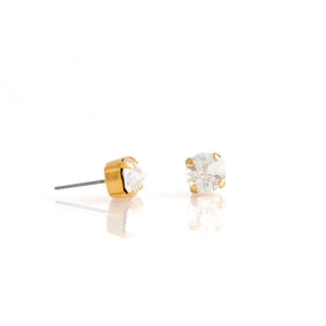 SPIKE Earrings Gold Clear
